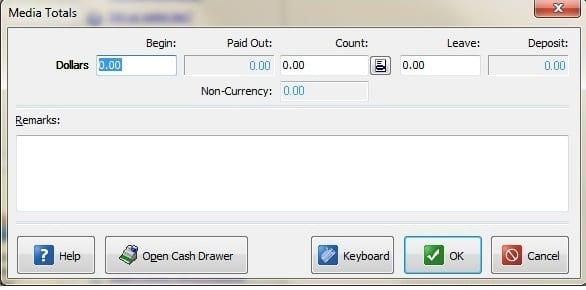 cash drawer open amount