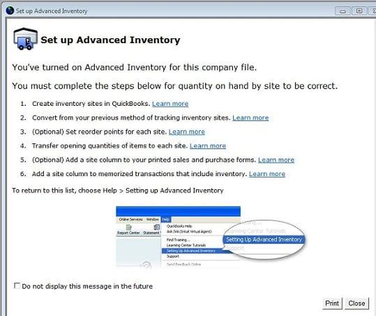 QuickBooks Enterprise, QuickBooks Enterprise inventory